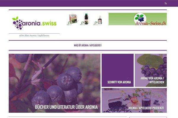 Schweizer Portal über Aronia, Aroniasaft und Aroniabeere - Apfelbeere